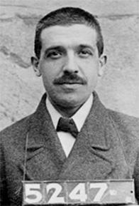 1910 mugshot of Charles Ponzi