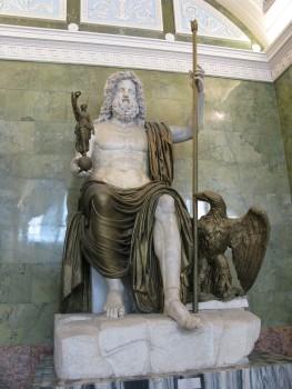Statue of Jupiter, god of the sky and lightning