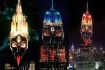 Hindu Goddess Kali Projected on Empire State Building in NYC