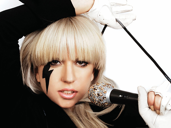 Lady Gaga Honoring Satan with Lightning Bolt