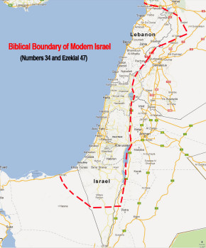 modern israel with boundaries