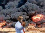 Obama Causes Huge Explosion, Blames Christians